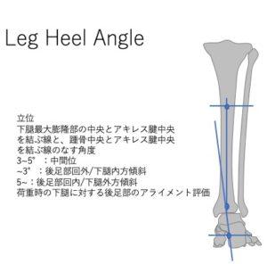 Leg heel angle